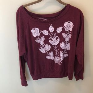 Maryink Burgundy Floral Top
